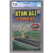 Atom-Age Combat #2 CGC 7.0 (C-OW) *2068132001*