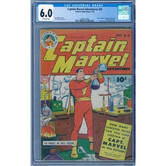 Captain Marvel Adventures #25 CGC 6.0 (OW) *2068132003* Mystery2020Series7 - (Hit Parade Inventory)
