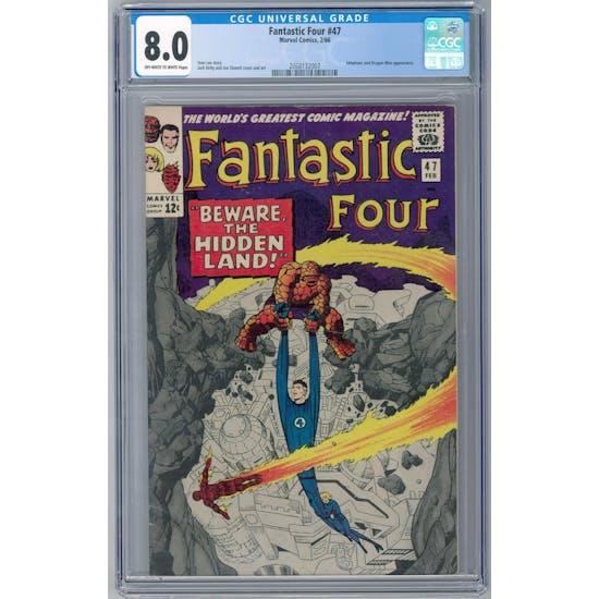Fantastic Four #47 CGC 8.0 (OW-W) *2068132007*
