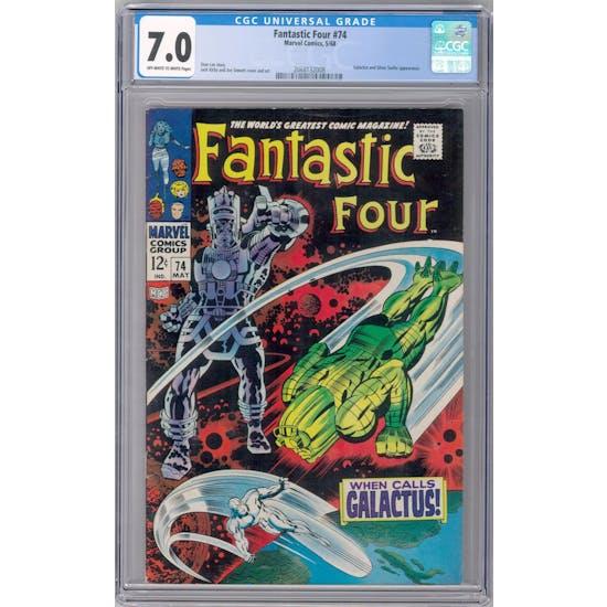 Fantastic Four #74 CGC 7.0 (OW-W) *2068132008*