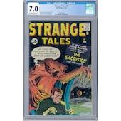 Strange Tales #91 CGC 7.0 (OW-W) *2068132017*