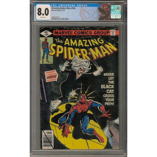 Amazing Spider-Man #194 CGC 8.0 (W) *2068134001*