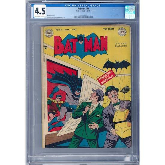Batman #53 CGC 4.5 (OW-W) *2068164003*