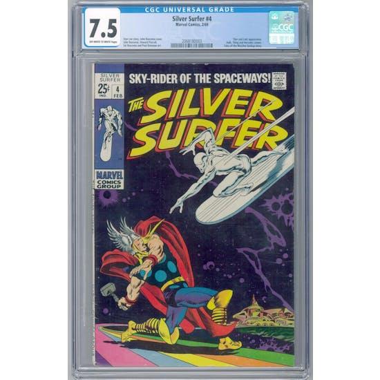 Silver Surfer #4 CGC 7.5 (OW-W) *2068180003*