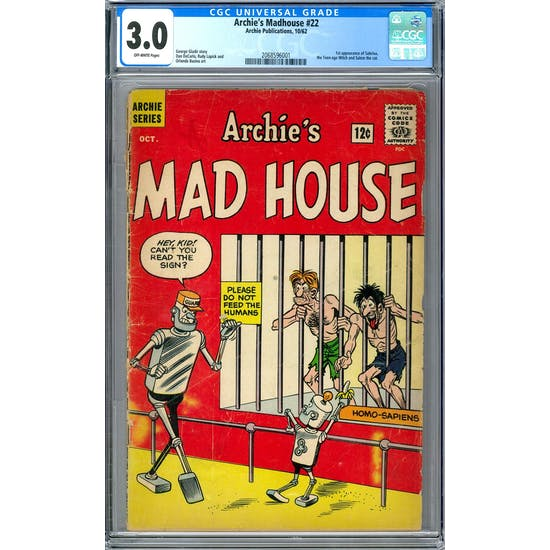 Archie's Madhouse #22 CGC 3.0 (OW) *2068596001*