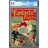 Fantastic Four #6 CGC 2.5 (C-OW) *2068597006*