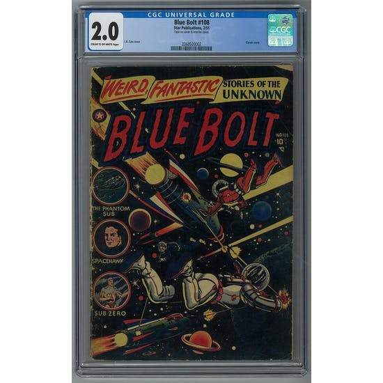 Blue Bolt #108 CGC 2.0 (C-OW) *2068920002*