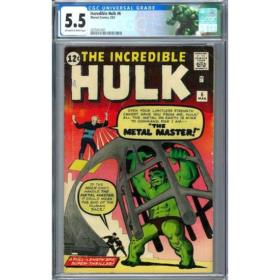 Incredible Hulk #6 CGC 5.5 (OW-W) *2070241001*