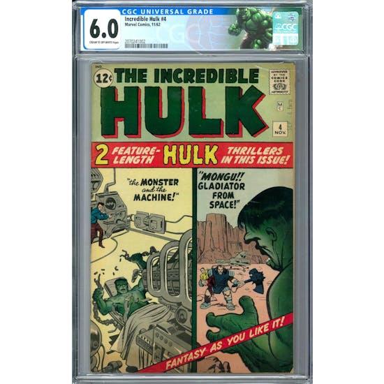 Incredible Hulk #4 CGC 6.0 (C-OW) *2070241002*