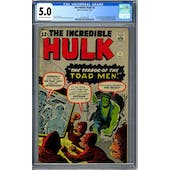 Incredible Hulk #2 CGC 5.0 (OW-W) *2070261001*