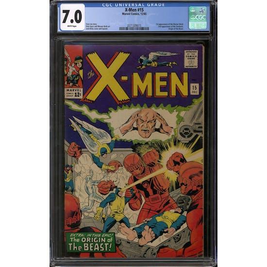 X-Men #15 CGC 7.0 (W) *2071309015*