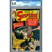 Tales of Suspense #50 CGC 5.0 (OW-W) *2072389005*