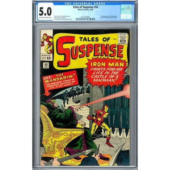 Tales of Suspense #50 CGC 5.0 (OW-W) *2072389005*