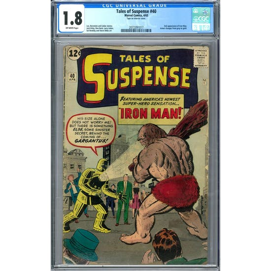 Tales of Suspense #40 CGC 1.8 (OW) *2072391017*