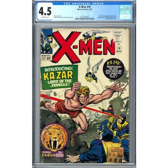 X-Men #10 CGC 4.5 (OW) *2072392003*