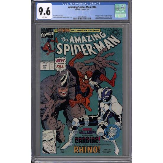 Amazing Spider-Man #344 CGC 9.6 (W) *2072393005*