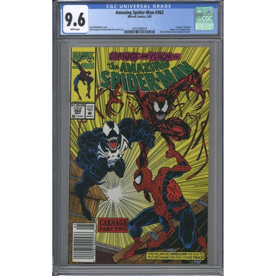 Amazing Spider-Man #362 CGC 9.6 (W) *2072393019*