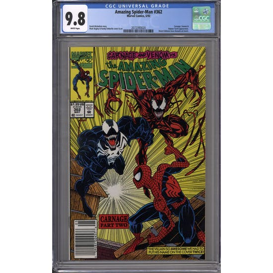 Amazing Spider-Man #362 CGC 9.8 (W) *2072393020*