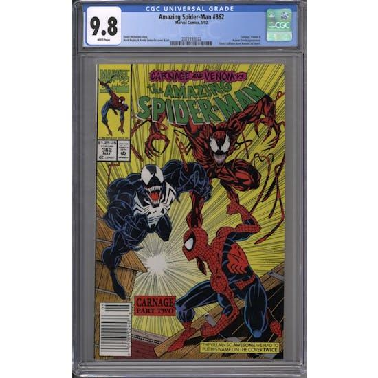 Amazing Spider-Man #362 CGC 9.8 (W) *2072393022*