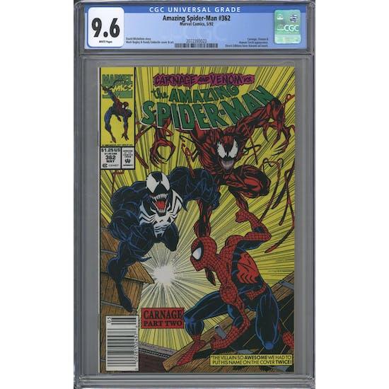 Amazing Spider-Man #362 CGC 9.6 (W) *2072393023*