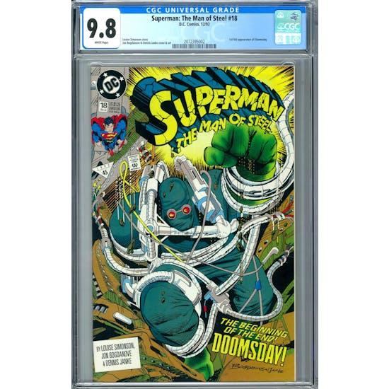 Superman: The Man of Steel #18 CGC 9.8 (W) *2072395002