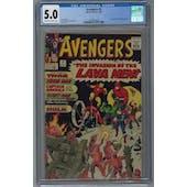 Avengers #5 CGC 5.0 (OW-W) *2072624002*