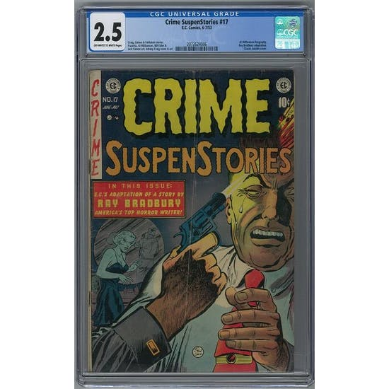Crime SuspenStories #17 CGC 2.5 (OW-W) *2072624006*