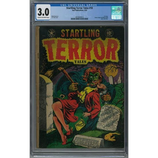 Startling Terror Tales #10 CGC 3.0 (C-OW) *2072624012*