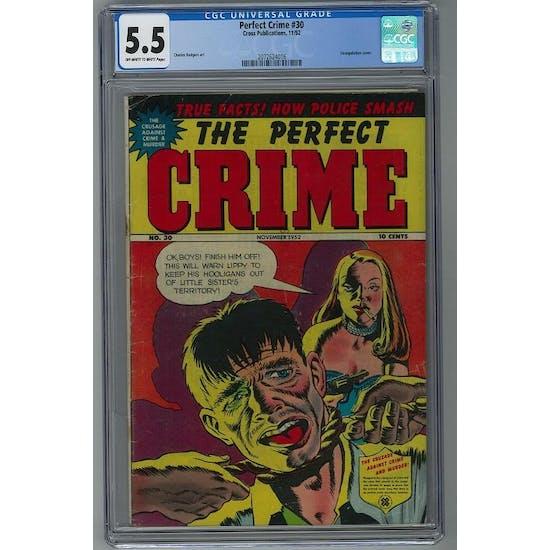 Perfect Crime #30 CGC 5.5 (OW-W) *2072624016*