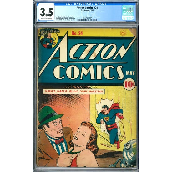 Action Comics #24 CGC 3.5 (SB) *2073127007* 130+ Comic Issue Lot