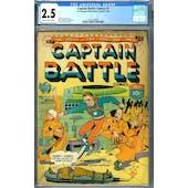 Captain Battle Comics #1 CGC 2.5 (SB) *2073128004*