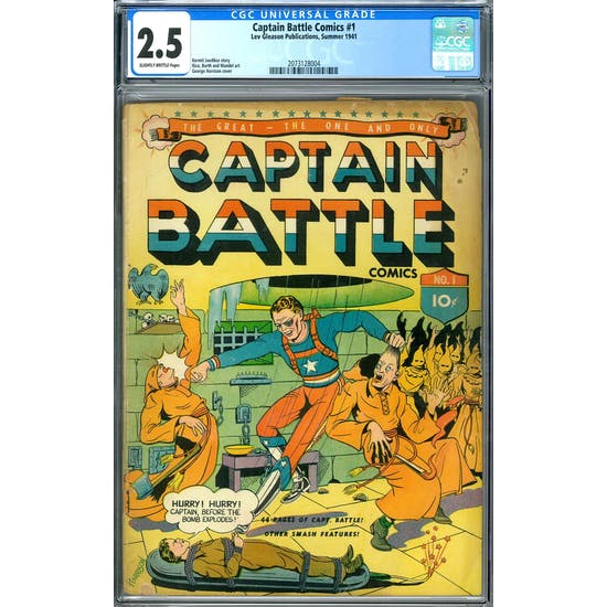 Captain Battle Comics #1 CGC 2.5 (SB) *2073128004*
