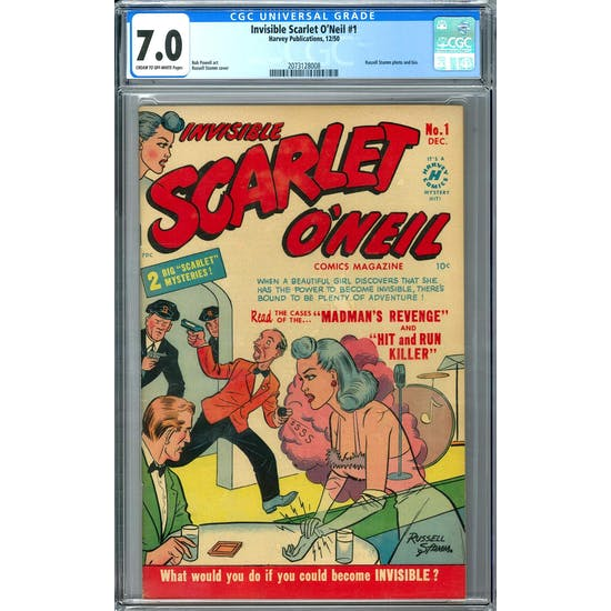 Invisible Scarlet O'Neil #1 CGC 7.0 (C-OW) *2073128008*