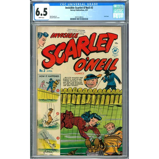 Invisible Scarlet O'Neil #3 CGC 6.5 (W) *2073128010*