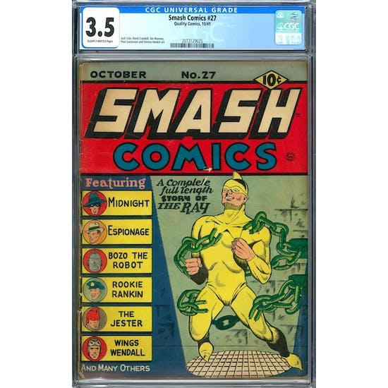 Smash Comics #27 CGC 3.5 (SB) *2073129025*