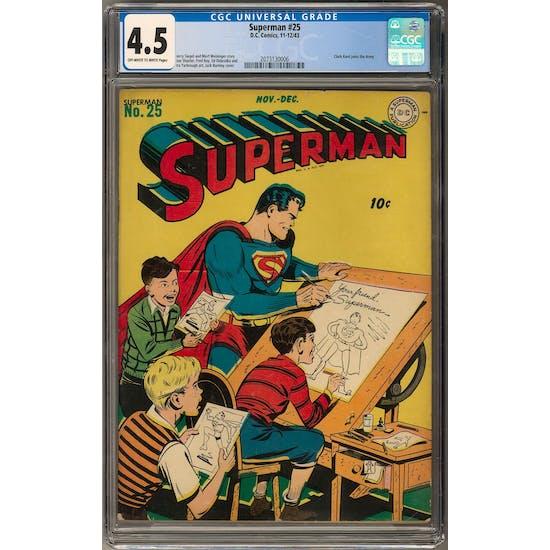 Superman #25 CGC 4.5 (OW-W) *2073130006*
