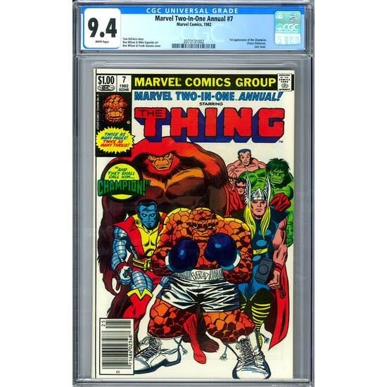 Marvel Two-In-One Annual #7 CGC 9.4 (W) *2073131002*