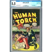 Human Torch #29 CGC 5.5 (C-OW) *2073132003*