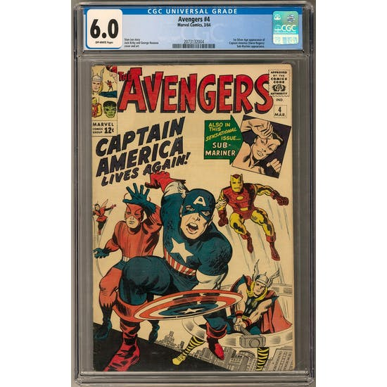 Avengers #4 CGC 6.0 (OW) *2073132004*