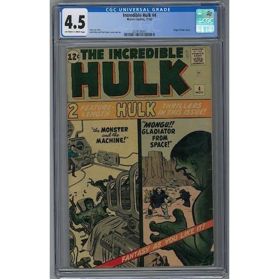 Incredible Hulk #4 CGC 4.5 (OW-W) *2074130001*