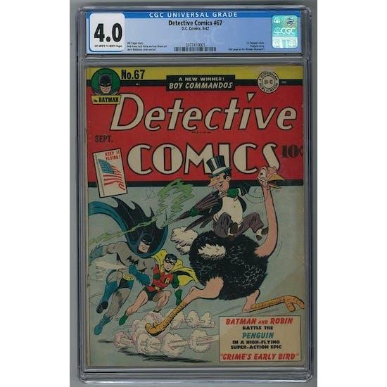 Detective Comics #67 CGC 4.0 (OW-W) *2077410005*
