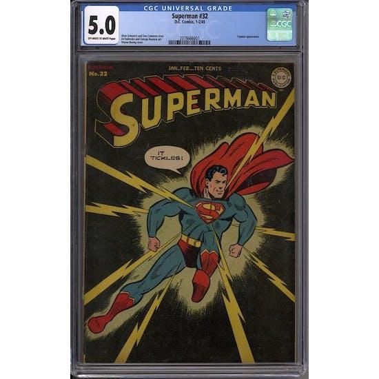 Superman #32 CGC 5.0 (OW-W) *2078666001*