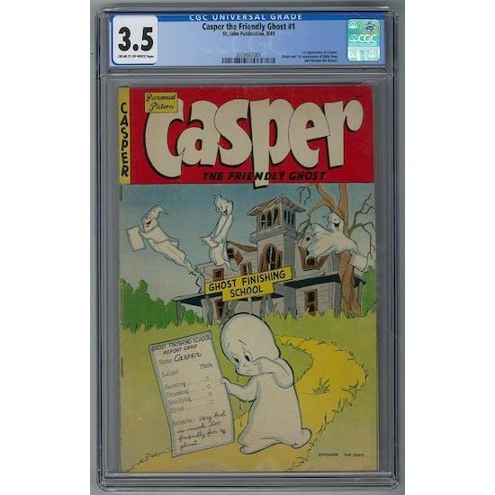 Casper The Friendly Ghost #1 CGC 3.5 (C-OW) *2078667001*