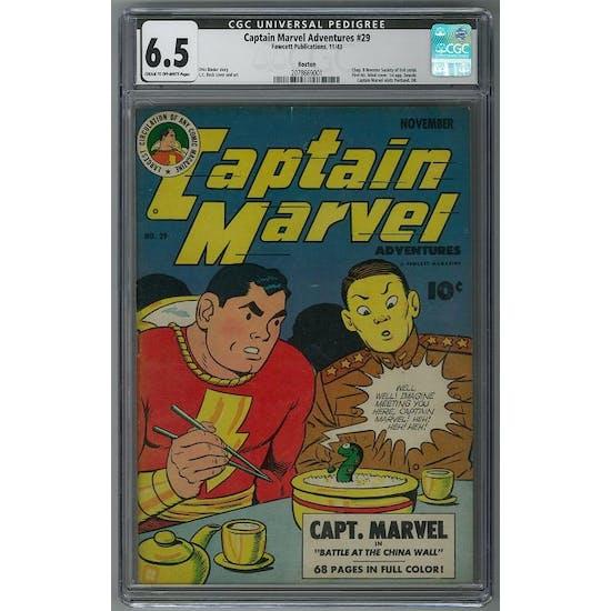 Captain Marvel Adventures #29 CGC 6.5 (C-OW) Bostin Pedigree *2078669001*