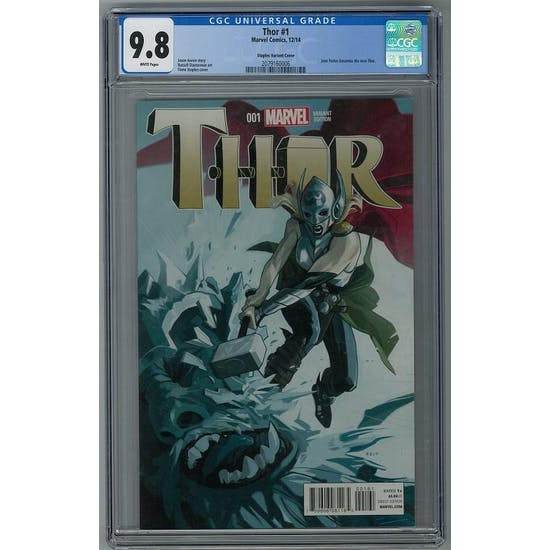 Thor #1 CGC 9.8 (W) Staples Variant Cover *2079160006*
