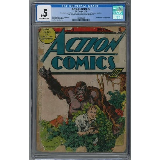 Action Comics #6 CGC .5 (SB) *2080180001*