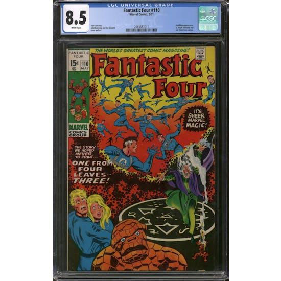 Fantastic Four #110 CGC 8.5 (W) *2083687011*