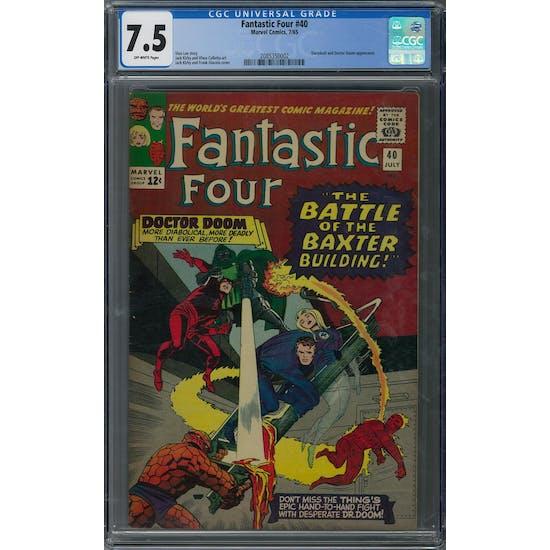 Fantastic Four #40 CGC 7.5 (OW) *2085350002*