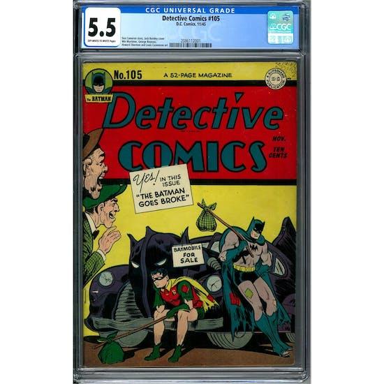 Detective Comics #105 CGC 5.5 (OW-W) *2086112001*