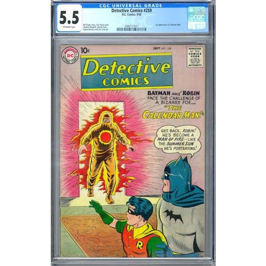 Detective Comics #259 CGC 5.5 (OW) *2086117011*
